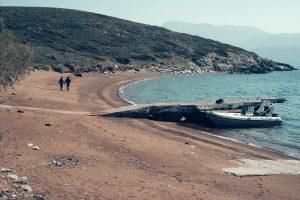 Alkyon islands by boat