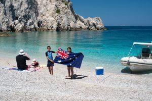 New Zealands enjoying a secret beach