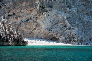 Hidden beach around the Corinthian