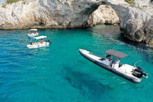 Cave-in-Loutraki-perachora-by-boat-trip-Lido-Blue